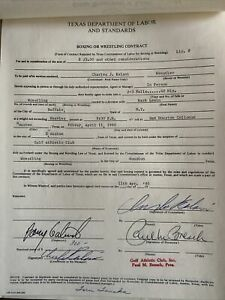 4/11/1980 Wrestling Program +12 SIGNED CONTRACTS: TANAKA, HERNANDEZ, LEWIN, HITO
