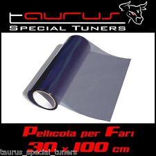 Pellicola fari 30x100cm fanali fumè nera anteriori posteriori fendinebbia LightS