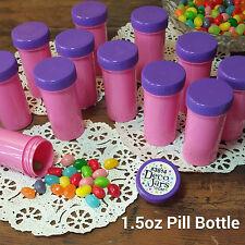 20 Pink Pill Bottle Jars Purple Cap Party Favor Doc McStuffins 3814 DecoJars USA