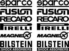 12 Black Car Door Stack  Sponsor Logo Stickers,Graphics,Decals set 3