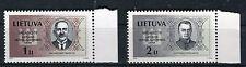 Lituania/Lithuania 2001 Serie Giornata indipendenza uomini politici 9° serie MNH