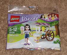 Lego Friends 30106 Emma's Ice Cream Stand Sealed 34 pcs Polybag Poly Mini Figure