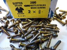 25 1cm x 2 nettlefolds ottone a incastro testa rotonda viti legno minuscolo