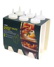 Sunnex 8oz Squeezy Plastic Sauce Ketchup Oil Vinaigrette Bottle - Clear - 6 Pack