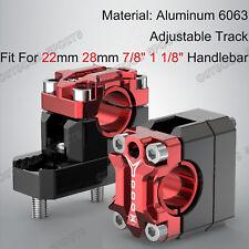"""CNC Billet Handlebar Clamp Riser Fat Bar Mount Fo Aprilia 7/8"""" 1 1/8"""" Adjustable"""