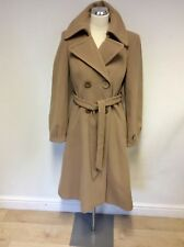 BRAND NEW BETTY JACKSON CAMEL TIE BELT KNEE LENGTH COAT SIZE 12