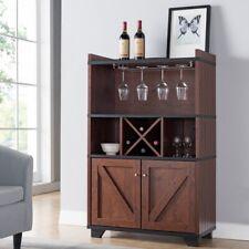 Furniture of America Keya Farmhouse 31-inch Wine Cabinet Buffet - Vintage Walnut