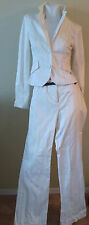 50% off RW & CO. Women's White Suit Pants with Thin Red Stripes Size 6