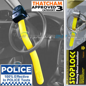 Geniune Stoplock Pro Thatcham 3 Car Van Steering Wheel Security Anti-Theft Lock