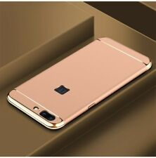 Cell Phone Case Protective for one plus 5 Bumper 3 in 1 Cover Chrome Shell Gold