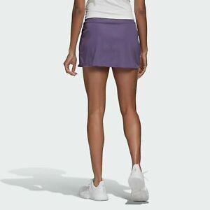 NEW! Adidas Women's Tennis Club Skirt Tech Purple / Grey Six FK6991- Size Large