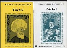 BOREK Kataloge Türkei 1966+1969, guter Zustand