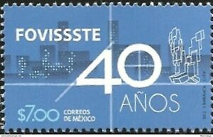 Mint stamp 40 years Fovissste  2012 from Mexico avdpz