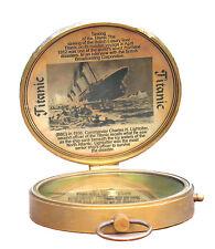 Antique Maritime Compass Brass Captain Titanic Replica Pocket Compass Device