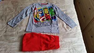 BNWT Tesco F&F Marvel Super Hero's pyjamas age 4-5 years sleepwear pj's
