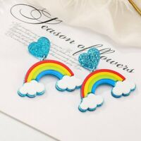 Acrylic Rainbow Clouds Earrings Geometric Drop Dangle Stud Women Party Fashion