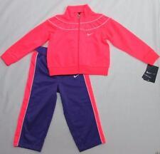 NWT Nike Toddler Girls' 2-Piece Jacket Pants Warm-up Tracksuit Pink Purple 24M
