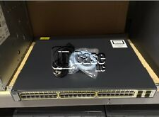 CISCO 3750 48PS S POE Ethernet WS-C3750-48PS-S Switch 48 Port 10/100 w/ Rack Set