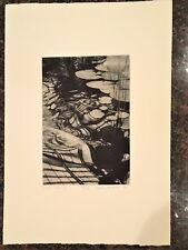 "Stephen McMillan ""Carp Drawing"" Hand Signed 35/120 Aquatint Etching Limited Edit"