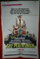 1 Vintage One Sheet Movie Poster for The Plainsman, 1966, Don Murray