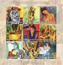 THE WORKS OF PABLO PICASSO REPUBLIQUE DU CONGO 2004 MNH STAMP SHEETLET