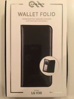 Case-Mate Wallet Folio Series Protective Case Cover for LG V30 - Black NEW