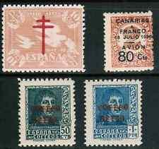Spain AirMail Canary Island 1937-38 Sc#C98-99, 9LC12, RAC3, 2 sets+  MNH/MH cp1