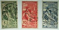 1900 Switzerland Scott # 98-100 used HCV