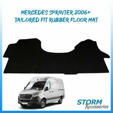 1 PIECE TAILORED FIT RUBBER FLOOR MAT IN BLACK FOR MERCEDES SPRINTER 2006+