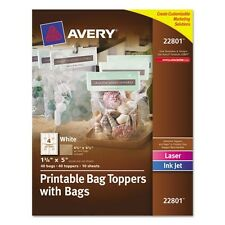Avery Printable Bag Toppers with Bags - 22801