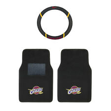 Basketball 3 Pc. NBA Cleveland Cavaliers Floor Mats & Steering Wheel Cover Combo