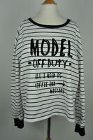Rampage women graphic striped long sleeve top size L Junior