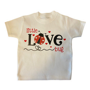 Valentines Day Baby and Toddler T-Shirt. 'Little Love Bug' Cute T-Shirt.