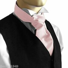 to be worn with a waistcoat Self Tie Ruche Cravat Italian Satin Wedding Groom