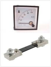 1pcs DC 100A SQ-72 High Quality Analog Ammeter and Shunt New