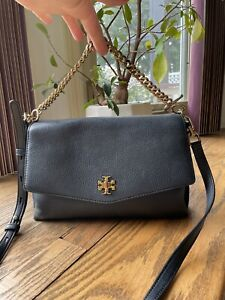 Tory Burch Kira Black Leather ShoulderBag Bag  Mixed materials Suede & Leather
