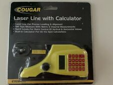 Cougar Laser Lever Line With Calculator and Tape Measure - Brand New