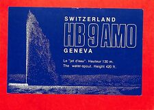 SUISSE SWITZERLAND CARTE RADIO AMATEUR HAM RADIO QSL CARD 1984