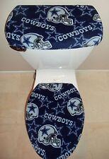 NFL DALLAS COWBOYS Fleece Fabric Toilet Seat Cover Set Bathroom Accessories