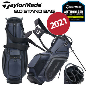 TaylorMade Pro 8.0 Golf Stand Bag 7-WAY Top Charcoal/Black - NEW! 2020