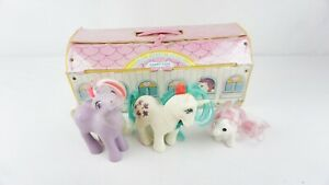 Vintage 1983 My Little Pony Carry Case By Hasbro with 3 Ponies