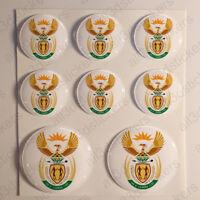 Pegatinas Sudafrica Escudo de Armas Vinilo 3D Relieve Pegatina Sudafrica Redonda