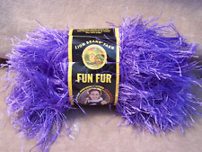 Lion Brand Fun Fur Eyelash Yarn - Violet - New