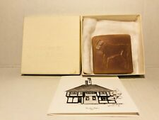 "Vintage 1991 Detroit Art Pewabic Pottery Sheep Lamb Tile 3"" x 3"""