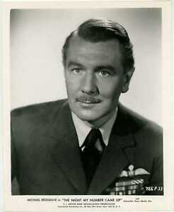 Michael Redgrave 1955 Original Portrait Photo - The Night My Number Came Up