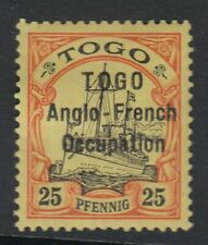 TOGO SGH18 - 1914 - 25pf black & red/yellow - Mounted mint