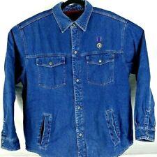 Craftsman Mens Size Large Denim Flannel Lined Jacket EUC