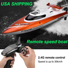 Orange Mini 2.4Ghz Rc High Speed Racing Boat Remote Control Speedboat Toy Ft009
