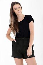 Womens Ladies Short Length Linen Summer Casual Shorts UK Size 10 12 14 16 18