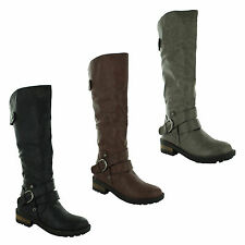 Unbranded Block Heel Knee High Boots for Women